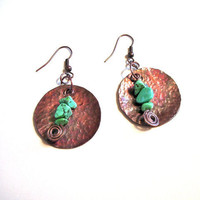 Gorgeous Hand Hammered Copper Disc Earrings with by jhammerberg on we heart it / visual bookmark #27987479