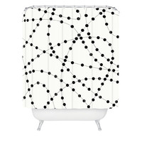 DENY Designs Home Accessories | Holli Zollinger Dotted Black Line Shower Curtain