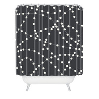 DENY Designs Home Accessories | Holli Zollinger Dotted Line Shower Curtain