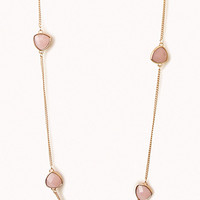 Faceted Faux Gem Necklace
