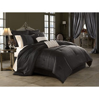 House of Dereon Diva 8-Piece Bedding Superset - Black - Bed Bath & Beyond