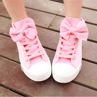 Pink canvas shoes from psiloveyoumoreboutique