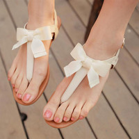 Bowknot is Flat Sandals C from psiloveyoumoreboutique