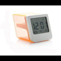 INFMETRY:: Slant Designed Solar Power Clock  - Home&Decor
