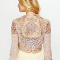 Free People Paisley Cropped Sweater at Free People Clothing Boutique