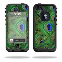 Mightyskins Protective Vinyl Skin Decal Cover for LifeProof iPhone 5 Case 1301 fre wrap sticker skins Peacock