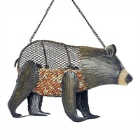Brown Bear-Shaped Mesh Bird Feeder - Plow & Hearth