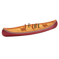 Hand-Painted Poly-Stone Canoe Cribbage Board Game - Plow & Hearth