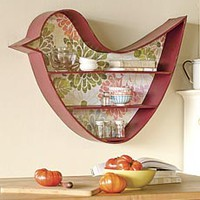 Green Bird Wall Shelf - Plow & Hearth