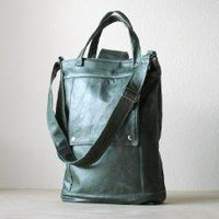 Supermarket - Briefcase in Wintergreen Distressed Leather from Jenny N.