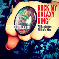 Rock My Galaxy Metallic Statement Ring - summer nights and shooting stars