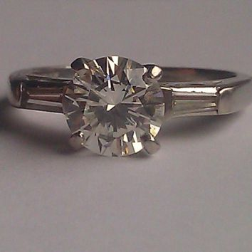 Have You Seen the Ring?: Vintage ring with antique old miner cut 1.07 carat, H, VS2, diamond