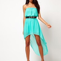 Glamorous | Glamorous Chiffon Bandeau Hi Lo Dress at ASOS