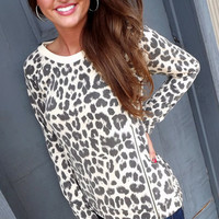 Little Leopard Cut-Out Sweater | The Rage
