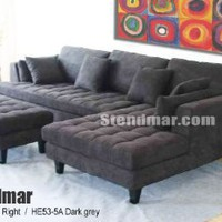 3pc New Modern Dark Grey Microfiber Sectional Sofa Chaise Ottoman Set S168R