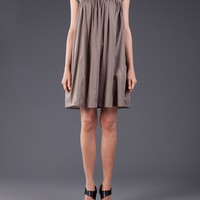 ENSOR CIVET - Draped Sleeveless Cellulose Dress - 4101531008 011 C. GRAY - H. Lorenzo