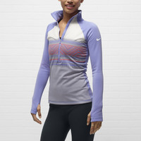 The Nike Pro Hyperwarm Half-Zip Women's Training Jacket.