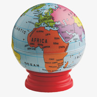 SHARPENER MULTI-COLOURED Plastic Globe pencil sharpener -                HabitatUK
