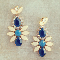 Pree Brulee - Blue Basilica Earrings