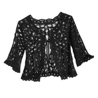 Battenburg Lace Jacket - New Age, Spiritual Gifts, Yoga, Wicca, Gothic, Reiki, Celtic, Crystal, Tarot at Pyramid Collection