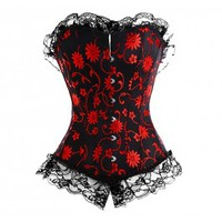 A3012 - Black and Red Corset