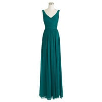 Heidi long dress in silk chiffon - silk chiffon - Wedding's Bridesmaid - J.Crew