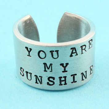 You Are My Sunshine Ring | Aluminum Ring | Quote| Stampin Off The Path