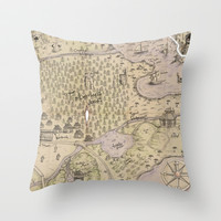 Rough Terrain Throw Pillow by Ben Geiger