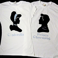 Cinderella & Prince Charming Couples T shirts