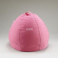 Kids Bean Bags: Personalized Pink Beanbag in Soft Seating | The Land of Nod