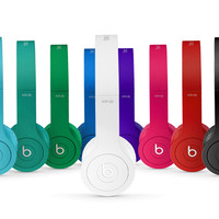 Matte White Headphones | NewBeats Solo HD with Built-In Mic
