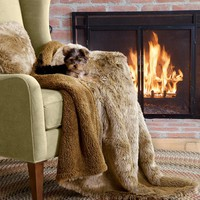Luxurious Faux Fur Pillow and Throw - Plow & Hearth