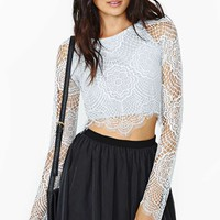 For Love & Lemons Wandering Crop Top