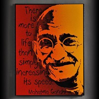 Gandhi 3D Painted Metal Wall Art Made in USA by AlanDerrickArtist