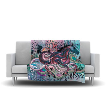 "Mat Miller ""Poetry in Motion"" Fleece Throw Blanket 