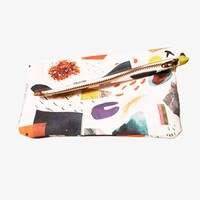 Poketo Abstract Art Collage Clutch
