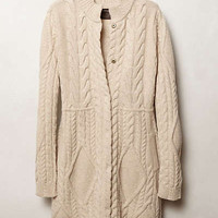 Cabled Sweater Coat