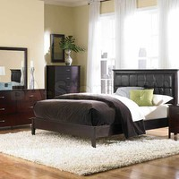 3 PC Hammond Bedroom Set (Panel Bed and Two Nightstand) | Bedroom sets HE-1342PU-1-SET-3/5