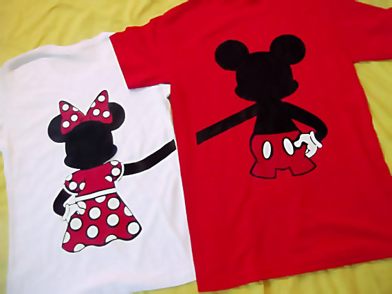 Mickey And Minnie Couples Shirts Mini Version of Mickey...