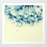 droplets of aqua Art Print by ingz