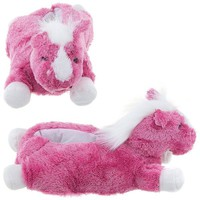 Pink Horse Animal Slippers for Women