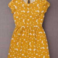 Fun Jersey Dress (Apricot Bubble Spot)