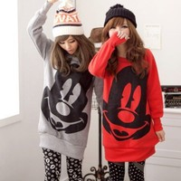 Cute Mickey Face OverSize SweatShirt