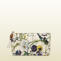 flora print leather pouch 338816AQX1G9064
