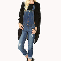 Chic Distressed Denim Overalls