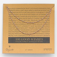 Dogeared '100 Good Wishes' Boxed Bead Necklace | Nordstrom