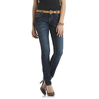 Bongo- -Junior's Belted Skinny Jeans - Whisker Wash-Clothing-Juniors-Jeans