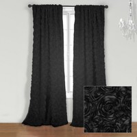 Wake Up Frankie - The Bouquet Panel - Black - The Bouquet Panel - Black : Teen Bedding, Pink Bedding, Dorm Bedding, Teen Comforters