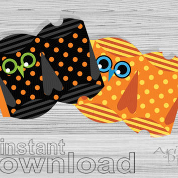 Printable pillow gift box halloween owl from arigigipixel on for Owl pillow box template