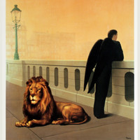 Le Mal du Pays, c.1941 Print by Rene Magritte at Art.com